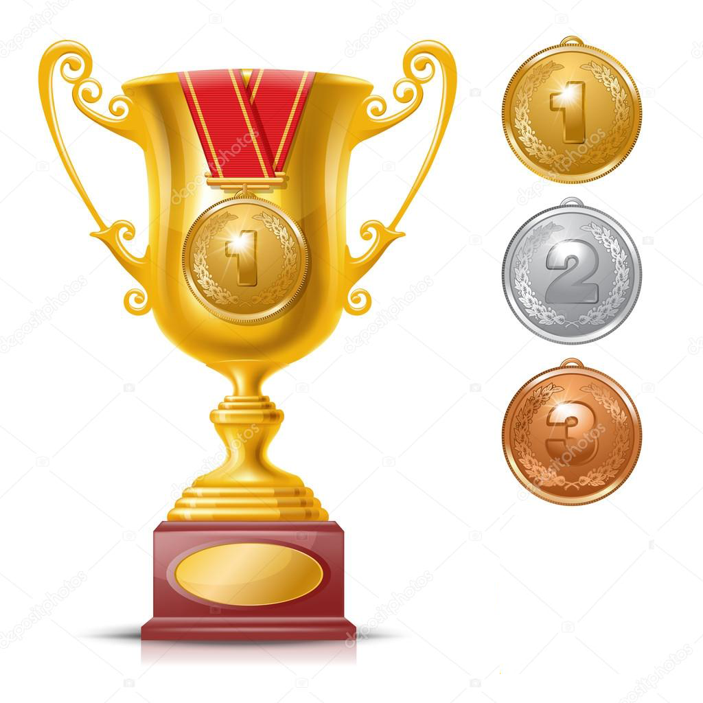 SITE trophy cup with medal