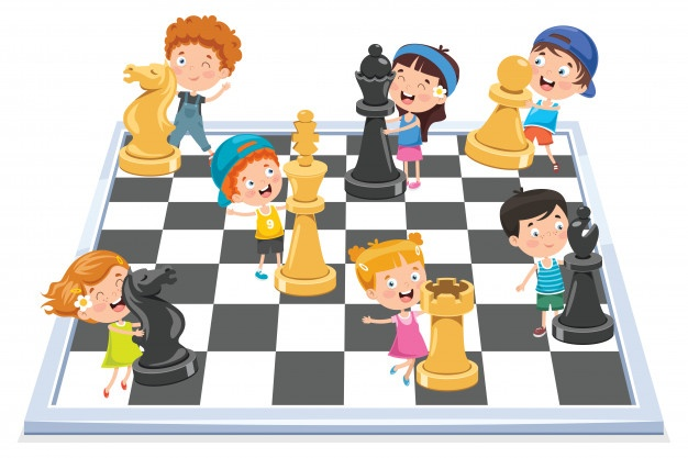 cartoon character playing chess game 29937 4052
